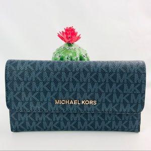 Authentic Michael Kors Jet Set Trifold Long Wallet